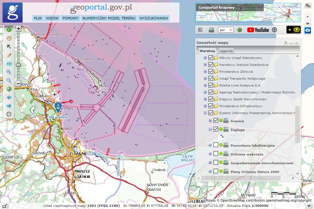 SIPAM w rządowym Geoportalu